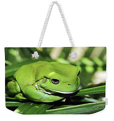 Cool Green Frog 001 Weekender Tote Bag