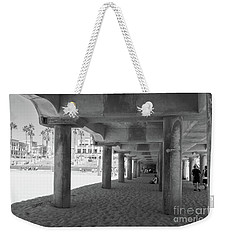 Weekender Tote Bag featuring the photograph Cool Off In The Shade Of The Pier by Ana V Ramirez