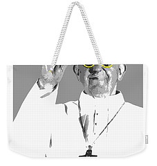 Weekender Tote Bag featuring the digital art Cool Pope  by Jean luc Comperat