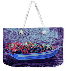 Weekender Tote Bag featuring the photograph Cool Sunset Boat Parade by Aimee L Maher Photography and Art Visit ALMGallerydotcom