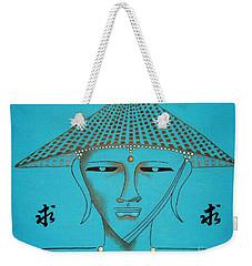 Coolie Buddha -- Stylized Buddha In Hat Weekender Tote Bag