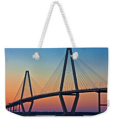 Cooper River Bridge Sunset Weekender Tote Bag