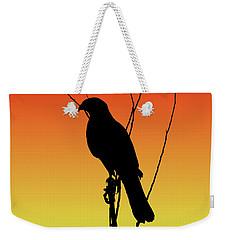 Coopers Hawk Silhouette At Sunset Weekender Tote Bag