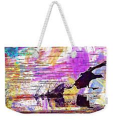 Weekender Tote Bag featuring the digital art Coot Bird Water Bird  by PixBreak Art