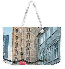 Weekender Tote Bag featuring the photograph Copenhagen Round Tower Street View by Antony McAulay