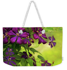 Copious Clematis Weekender Tote Bag