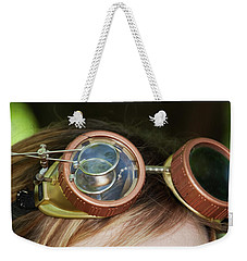 Weekender Tote Bag featuring the photograph Copper Goggles - Steampunk by Betty Denise