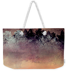 Weekender Tote Bag featuring the digital art Copper Lake by Jessica Wright