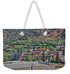 Weekender Tote Bag featuring the photograph Copper Queen Hotel by Dan McManus