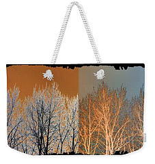 Weekender Tote Bag featuring the digital art Coppertone Fusion by Will Borden