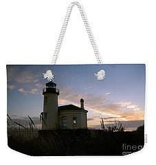 Coquille River Lighthouse At Sunset Weekender Tote Bag