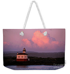 Coquille River Lighthouse Sunset Weekender Tote Bag