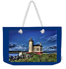 Weekender Tote Bag featuring the photograph Coquille River Lighthouse by Thom Zehrfeld