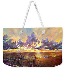 Coquina Beach Sunset Weekender Tote Bag by Lou Ann Bagnall