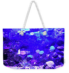 Weekender Tote Bag featuring the digital art Coral Art 2 by Francesca Mackenney