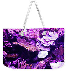 Weekender Tote Bag featuring the digital art Coral Art 5 by Francesca Mackenney
