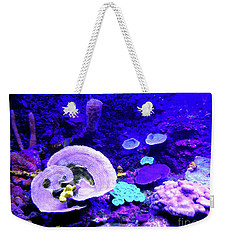 Weekender Tote Bag featuring the digital art Coral Art by Francesca Mackenney