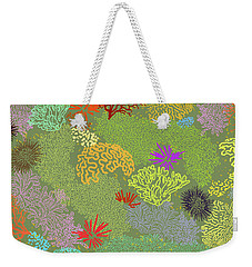 Coral Garden Olive Multi Weekender Tote Bag