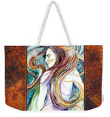 Coral Mermaid Weekender Tote Bag