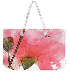 Weekender Tote Bag featuring the painting Coral Poppies by Dawn Derman