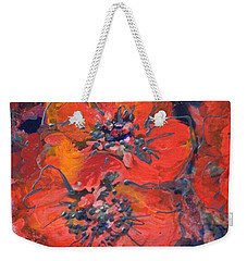 Coral Poppies Weekender Tote Bag