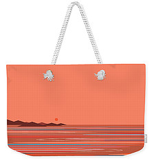 Weekender Tote Bag featuring the digital art Coral Sea by Val Arie