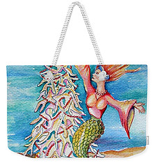 Coral Tree Mermaid Weekender Tote Bag