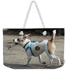 Corby The Dog Weekender Tote Bag