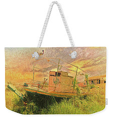 Weekender Tote Bag featuring the photograph Corfu 25 High And Dry by Leigh Kemp