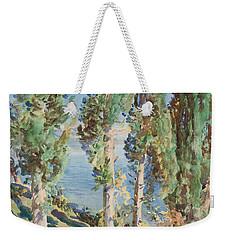 Corfu Cypresses Weekender Tote Bag