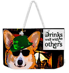 Corgi - Drinks Well With Others Weekender Tote Bag