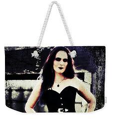 Weekender Tote Bag featuring the digital art Corinne 1 by Mark Baranowski
