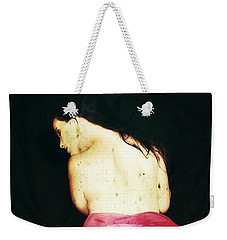 Weekender Tote Bag featuring the digital art Corinne 2 by Mark Baranowski