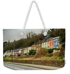 Weekender Tote Bag featuring the photograph Cork Row Houses by Marie Leslie