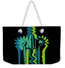 Weekender Tote Bag featuring the digital art Corkscrew by Jean luc Comperat