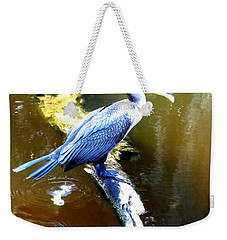 Weekender Tote Bag featuring the photograph  Cormorant 000 by Chris Mercer