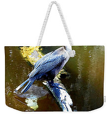 Weekender Tote Bag featuring the photograph   Cormorant 001 by Chris Mercer