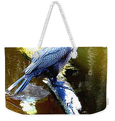 Weekender Tote Bag featuring the photograph Cormorant 001a  by Chris Mercer