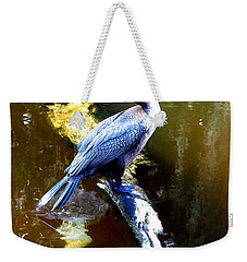 Weekender Tote Bag featuring the photograph   Cormorant 002 by Chris Mercer