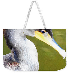 Weekender Tote Bag featuring the photograph    Cormorant 003 by Chris Mercer