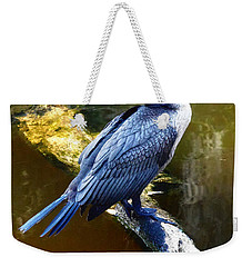 Weekender Tote Bag featuring the photograph Cormorant  by Chris Mercer