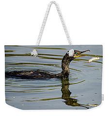Cormorant Praying Fishing   Weekender Tote Bag