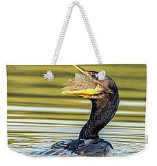 Cormorant With Fish 0977-111217-1cr Weekender Tote Bag