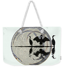 Cormorants Weekender Tote Bag by Elaine Hunter