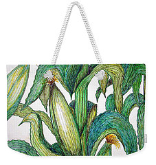 Corn And Stalk Weekender Tote Bag by J R Seymour