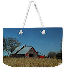 Weekender Tote Bag featuring the photograph Corn Crib by Yumi Johnson