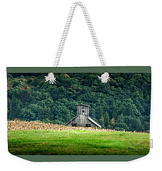 Weekender Tote Bag featuring the photograph Corn Field Silo by Marvin Spates