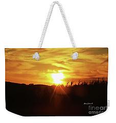 Corn Field Sunset Weekender Tote Bag