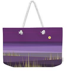 Corn Field Twilight Purple Weekender Tote Bag