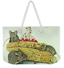 Corn Meal Weekender Tote Bag